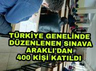 Türkiye Genelinde Düzenlenen Sınavlara Araklı'dan 400 Öğrenci katıldı