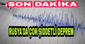 Son Dakika Rusya'da 7.4 Büyüklüğünde Deprem Meydana geldi