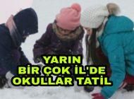 Kar Nedeniyle Yarın Hangi İl'lerde Okullar Tatil? Karadenizhaber61'de