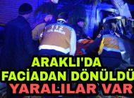 Araklı'da Trafik kazası Faciadan dönüldü Yaralılar var