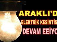 Araklı'nın Mahallelerinde Elektrik kesintileri devam ediyor