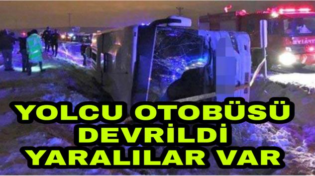 Korkunç kaza Otobüs Devrildi Yaralılar var