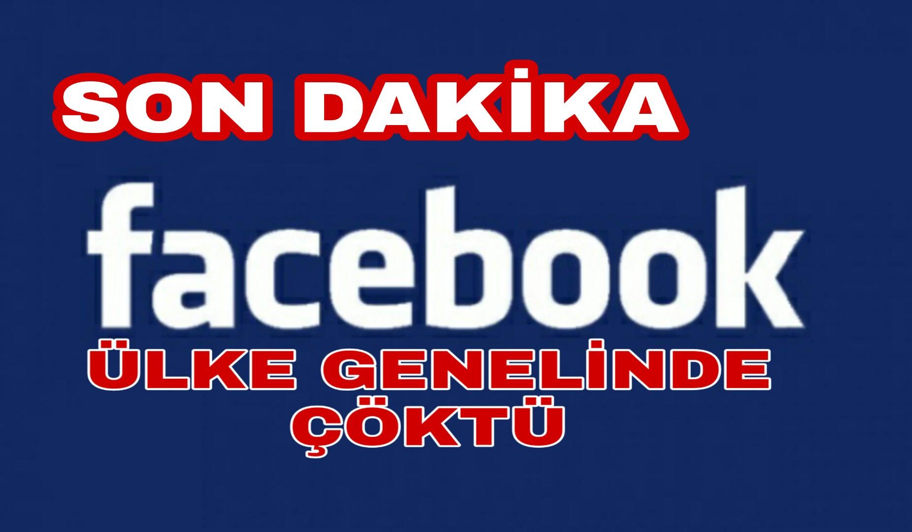 Kullanıcılarına Kötü Haber Facebook Çöktü