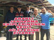 Jandarma Ekipleri Şehit Ailelerini Yalnız Bırakmadı.