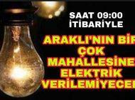 Araklı'da Elektrik kesintisi Yaşanacak Mahalleler|Karadenizhaber61'de