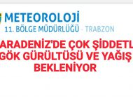 Meteoroloji'den Uyarı Trabzon ve Çevre iller Dikkat