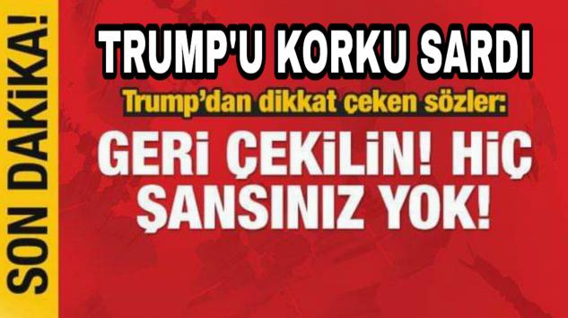 Trump'u Korku sardı PKK YPG'ye Çağrı yağtı sizi bende Kurtaramam…