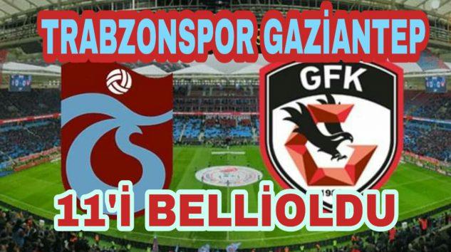 Trabzonspor Gaziantep Maçının kadrosu açıklandı.