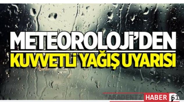Aman Dikkat Meteoroloji uyarı üstüne uyarı yapıyor.
