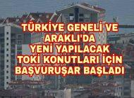 Trabzon ve İlçelerinde TOKİ Başvuruları Başladı