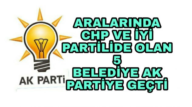 Belediye Başkanları AK Partiye geçti Rozetlerini Cumhurbaşkanı Erdoğan taktı.