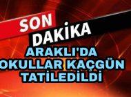 Araklı'da Okullar kaç gün tatil edildi