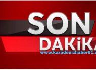 Son Dakika Araklı'da Heyelan Yol Ulaşıma kapandı