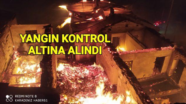 Araklı'da ki Yangın Kontrol altına alındı
