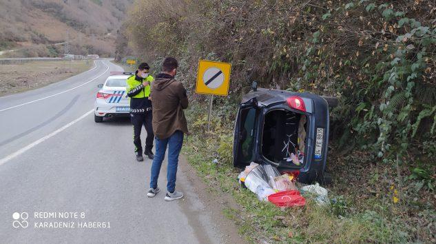 Son Dakika Araklı Karadere Yolunda Trafik Kazası