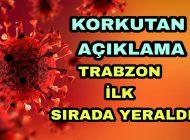 Koranavirus Trabzon'da Adeta Hortladı